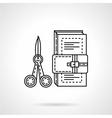 School art tools flat line icon vector image vector image