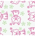 Seamless pattern Cute cats vector image vector image