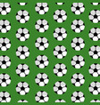 seamless pattern soccer ball sport club vector image