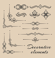set of decorative elements vector image vector image
