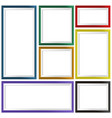seven frames in different colors