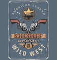 sheriff guns star cowboy hat wild west western vector image vector image