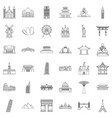 showplace icons set outline style vector image vector image