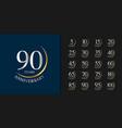 silver and golden anniversary celebration emblem vector image vector image