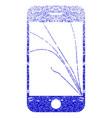 smartphone screen cracks textured icon vector image vector image