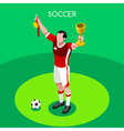 Soccer Winner 2016 Summer Games 3D Isometric vector image vector image