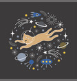 space cat vector image vector image