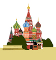 St Basils Cathedral on Red square vector image vector image
