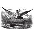 the storks vintage vector image vector image