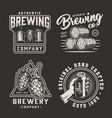 vintage monochrome brewery emblems vector image vector image