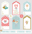 Winter card set vector image