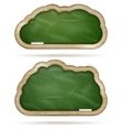 Blank green Blackboard cloud set EPS 10 vector image