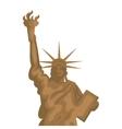 liberty statue new york city vector image