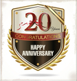 20 years Anniversary label vector image vector image