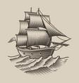 a vintage ship vector image