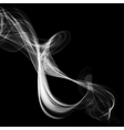 Abstract smoke isolated on black vector image vector image