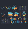 arrangement of infographic templates vector image