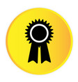 award icon yellow circle frame background i vector image vector image