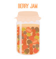 berries jam in mason jar canned vector image