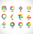 Business Abstract Icons vector image vector image
