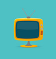 cartoon color retro tv vector image