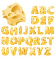 cheese letters set vector image vector image