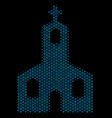 christian church composition icon of halftone vector image vector image
