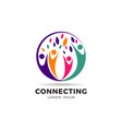circle colorful community logo symbol vector image vector image