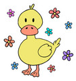 cute baby duck cartoon design element vector image vector image