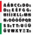 cute funny childish hungarian alphabet vector image vector image