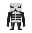 cute halloween skeleton cartoon character vector image vector image