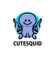 cute squid cartoon logo icon vector image vector image