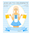 detailed flat of oktoberfest party invitation with vector image