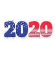 election 2020 like american flag vector image vector image