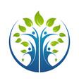 family tree symbol icon logo design template vector image vector image