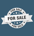 for sale ribbon for sale round white sign for sale vector image vector image