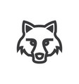 fox head icon vector image
