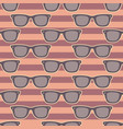 funky glasses pattern vector image
