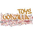 godzilla toys text background word cloud concept vector image vector image