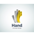 Hand logo template vector image