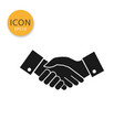 hand shake icon isolated flat style vector image vector image