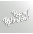 happy lettering greeting card vector image