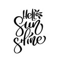 hello sunshine summer handwritten vector image