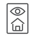 home inspection line icon real estate and home vector image vector image