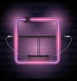 iluminated neon label icon vector image