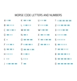 International Morse Code Alphabet vector image