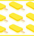 isometric yellow ice cream on white background vector image