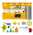 Kitchen Design Icon Set vector image