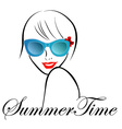 Lady with Style for summer time vector image vector image