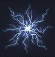 lightning thunder flash electricity spark strike vector image